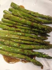 Glazed asparagus.