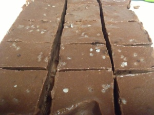 Chocolate-Orange with Sea Salt Freezer Fudge