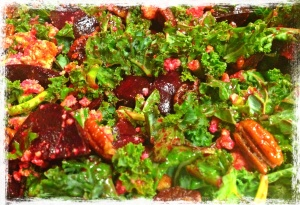Roasted Beet Salad with Candied Pecan and Cheeze