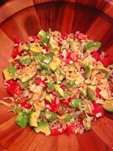 Spicy Lentil Taco Salad