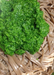Soba Noodles with Pesto.