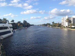 View from the bridge in Delray Beach.